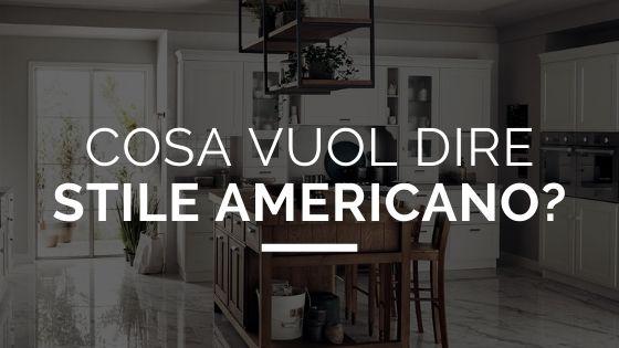"""Cosa vuol dire """"stile americano""""?"""